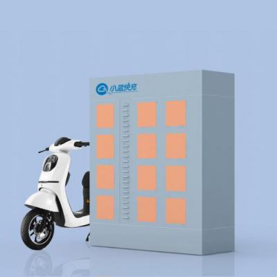 12仓电动自行车换电柜适用于社区、校园、商超等场景